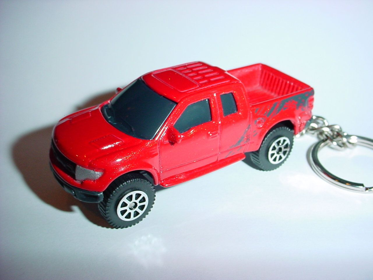3d Ford F 150 Raptor Truck Custom Keychain By Brian Thornton Keyring Key Chain Finished In Red Black Trim 4x4 Racing Trim Pick Up Offroad In 2020 Ford F150 Raptor Truck Custom Keychain