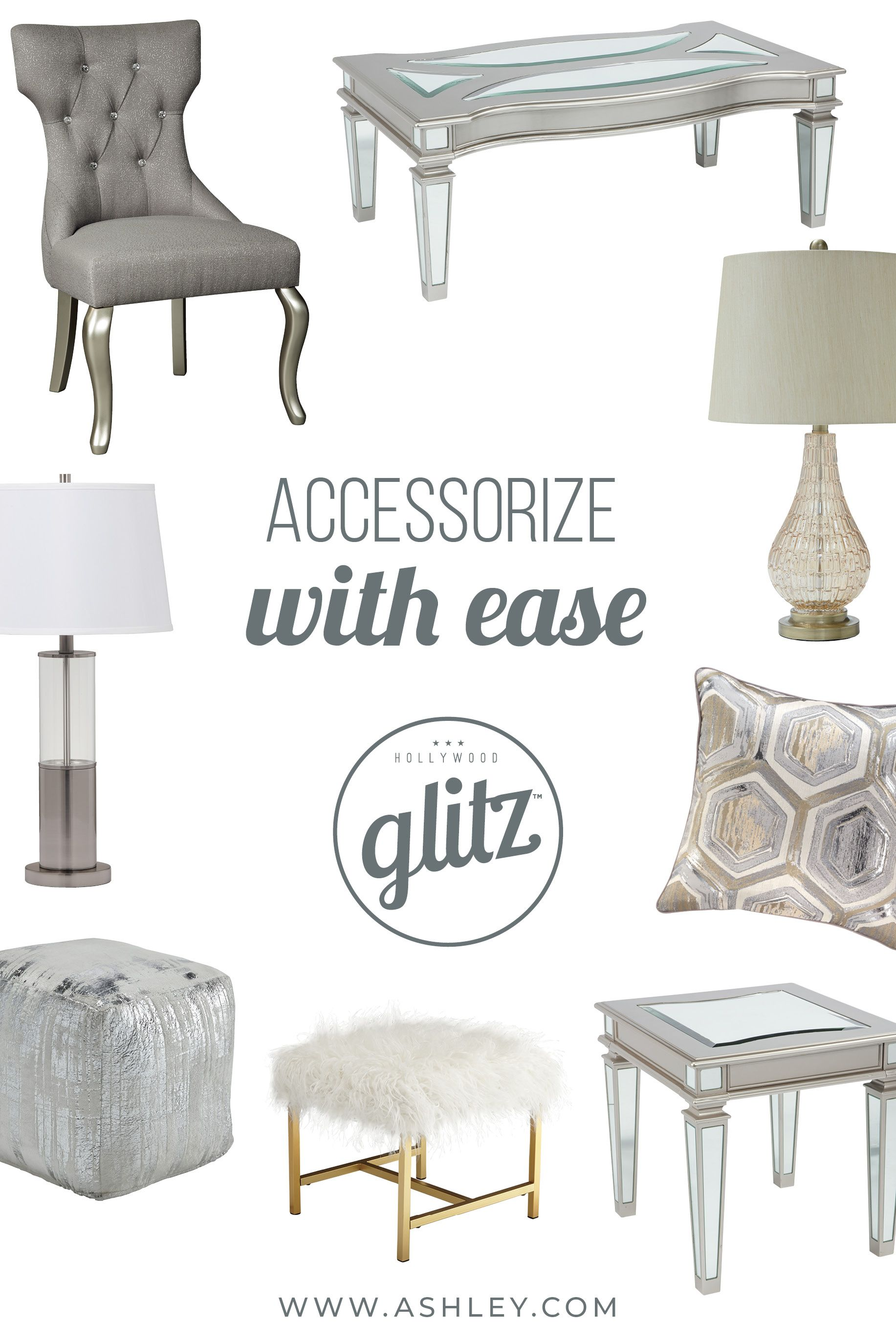 Hollywood Glitz Accents And Accessories From Ashley Furniture Ashleyfurniture Accentsbyashley Ashley Furniture Ashley Furniture Industries Furniture