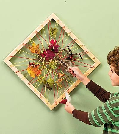Nature Collage Art Frame. This Could Be Done On An Embroidery Hoop ($1 Store?). Great Idea For ...