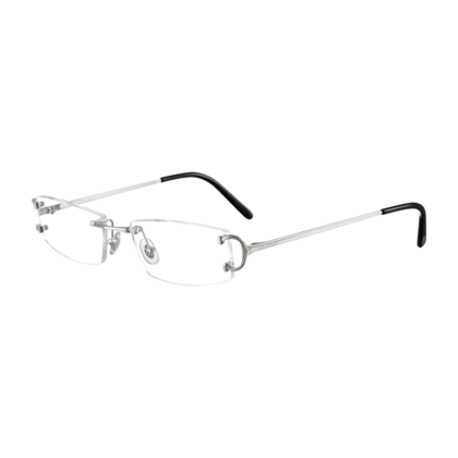 C Decor Classic Platinum Finish Metal Fine Prescription Glasses