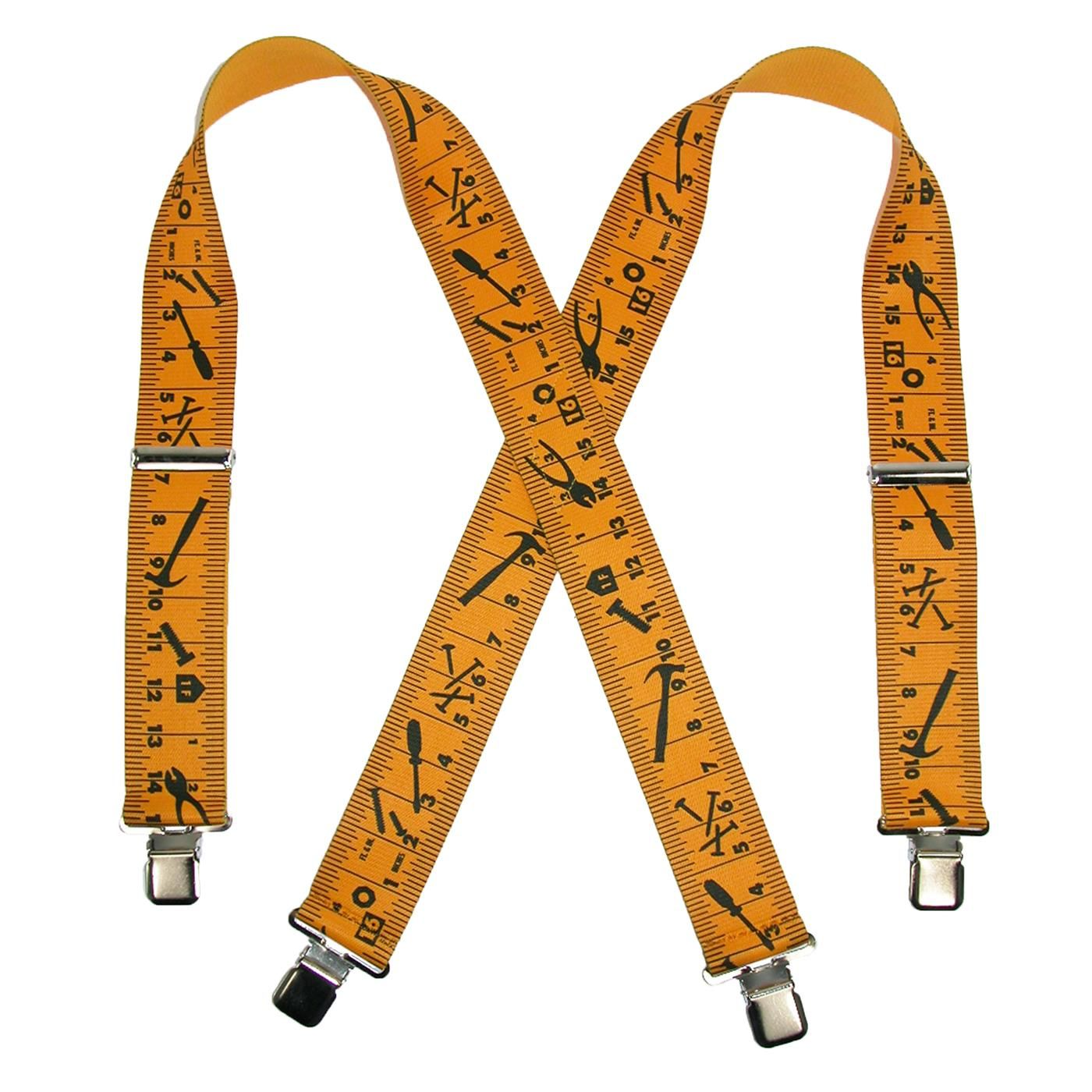 CTM Mens Big /& Tall Elastic Work Clip-End Suspenders