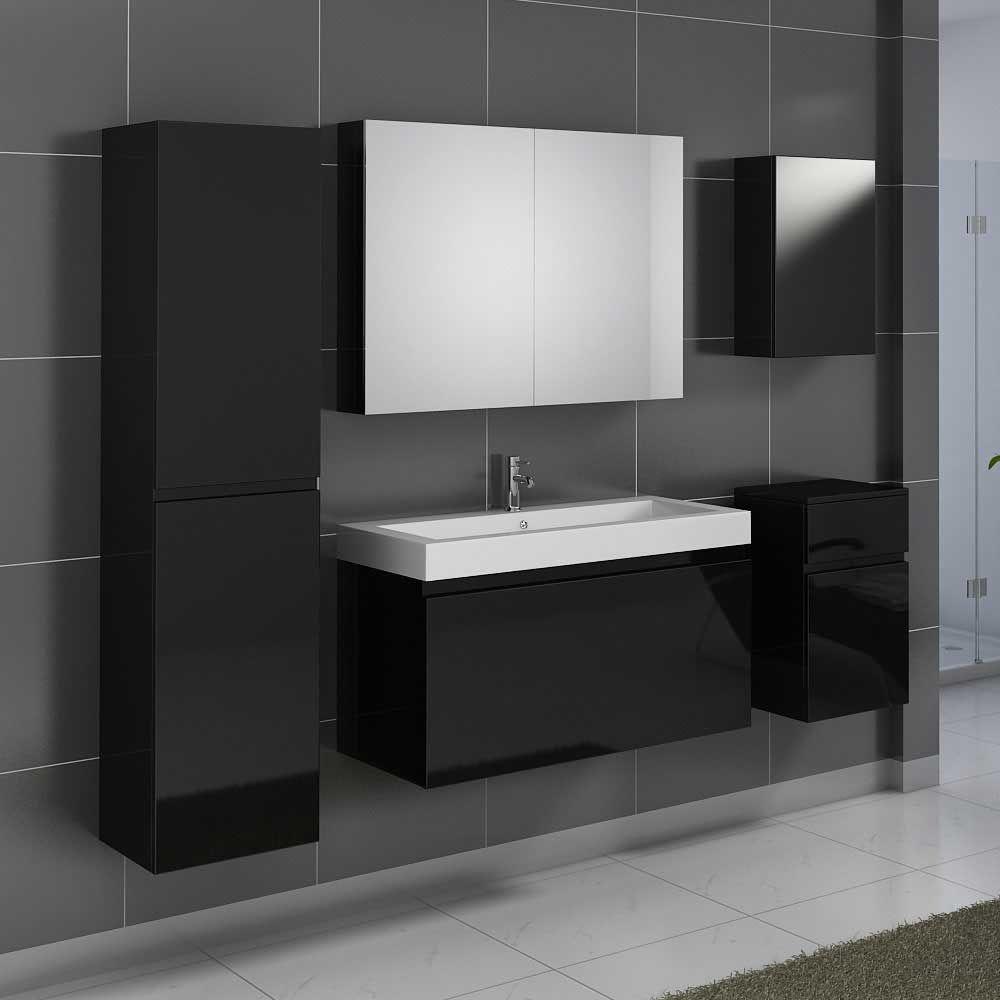 Badezimmer ideen schwarz badmöbel set in schwarz hochglanz waschtisch teilig jetzt