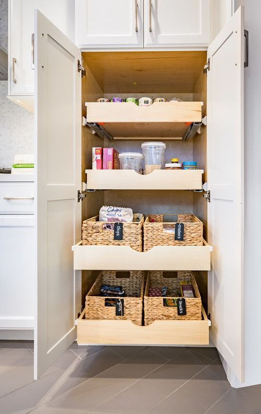 46 lovely kitchen cabinet organization design ideas to try