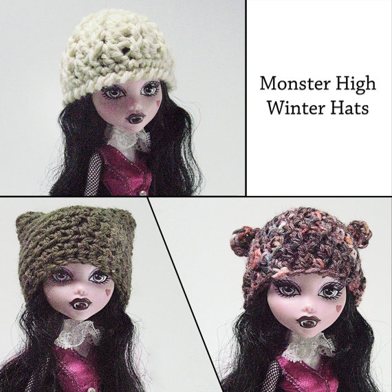 Monster High Hat Patterns - crochet doll clothes pattern - doll ...