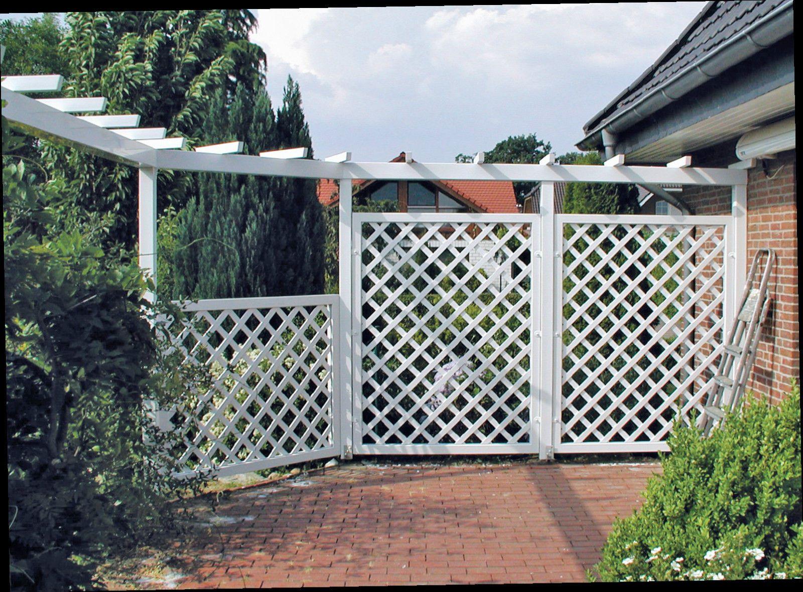 Details zu Sichtschutzzaun WANGEROOGE versch Größen Gartenzaun