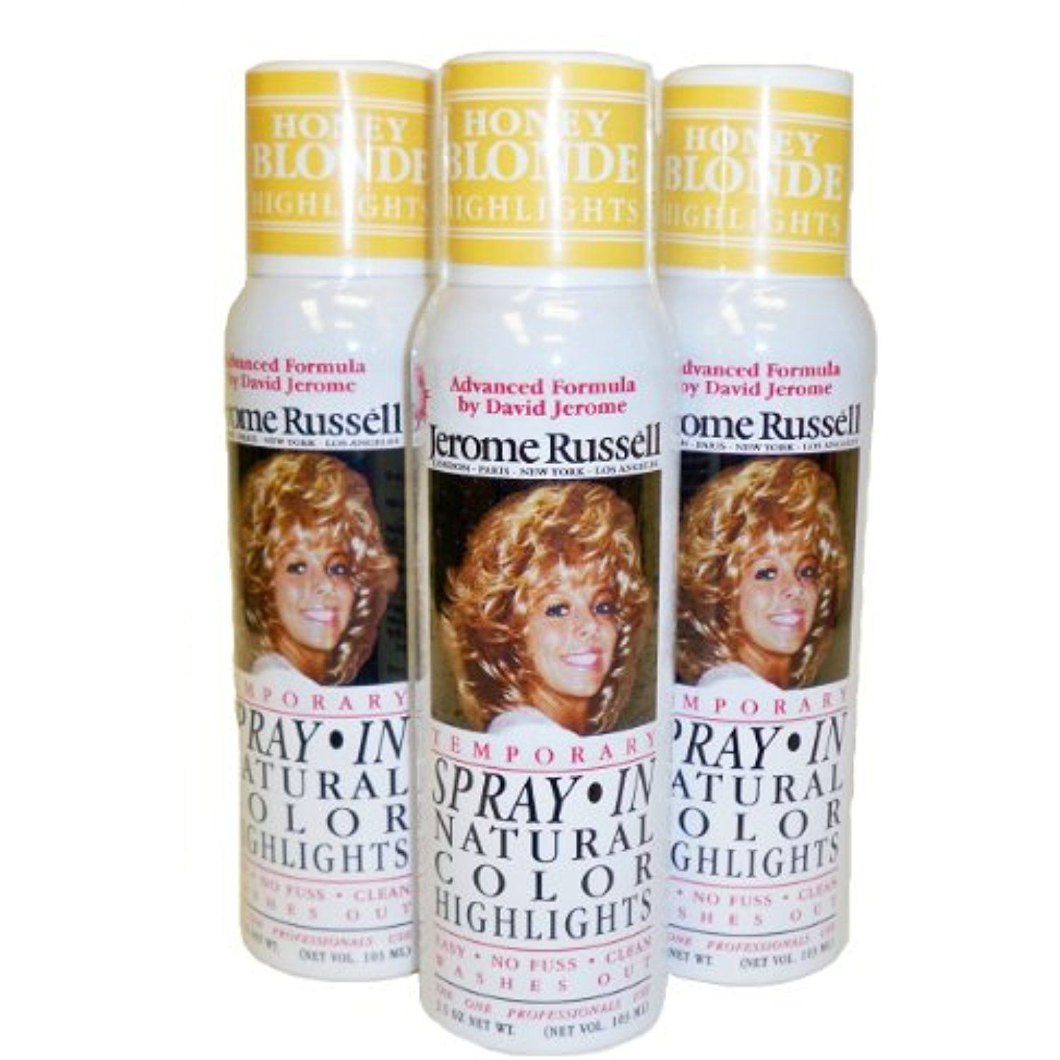 Jerome Russell Temporary Hair Color Spray Shampoos Out 3 Cans