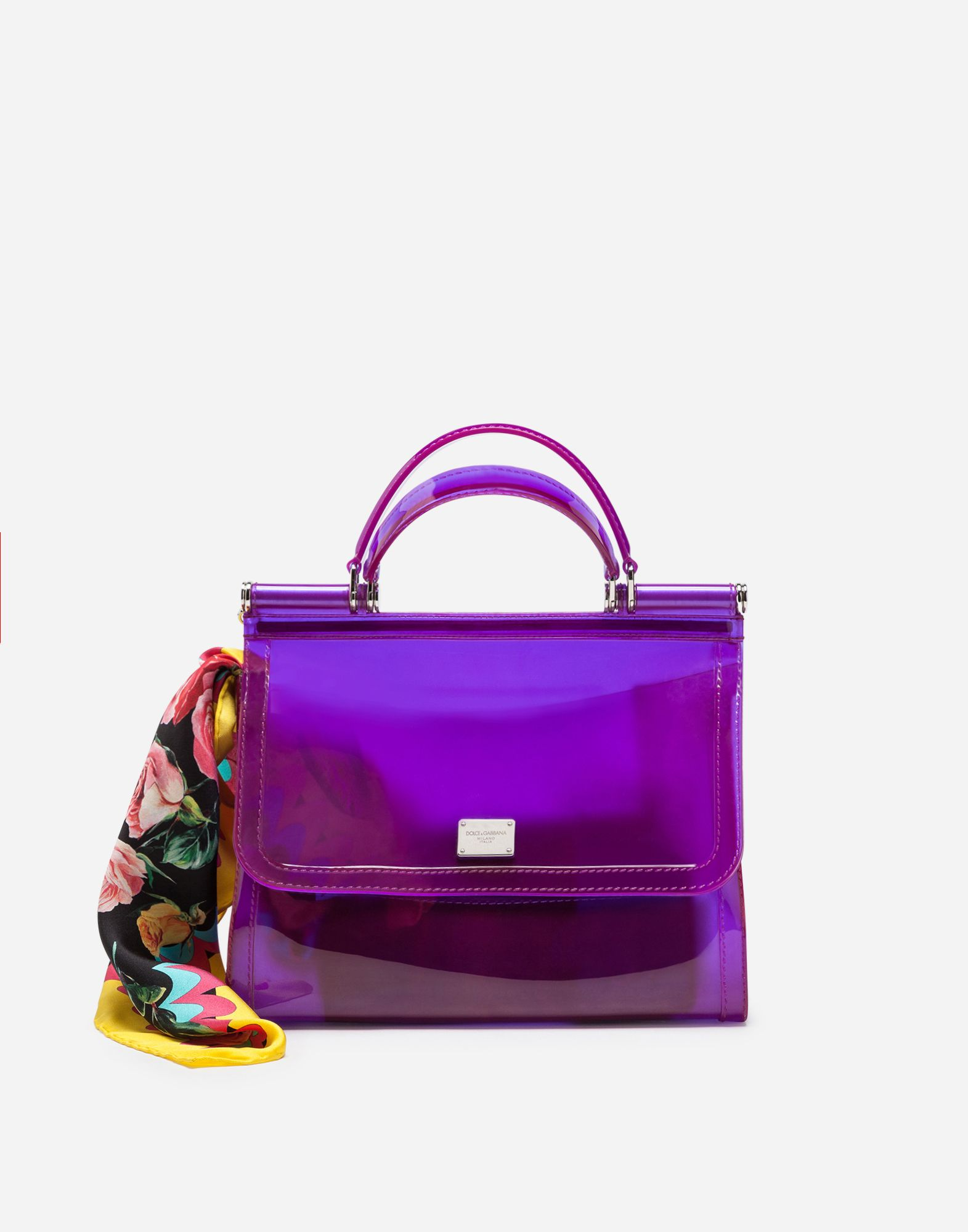 2f67a30b5a60 Dolce   Gabbana - Semi-transparent rubber purple Sicily handbag ( 995)