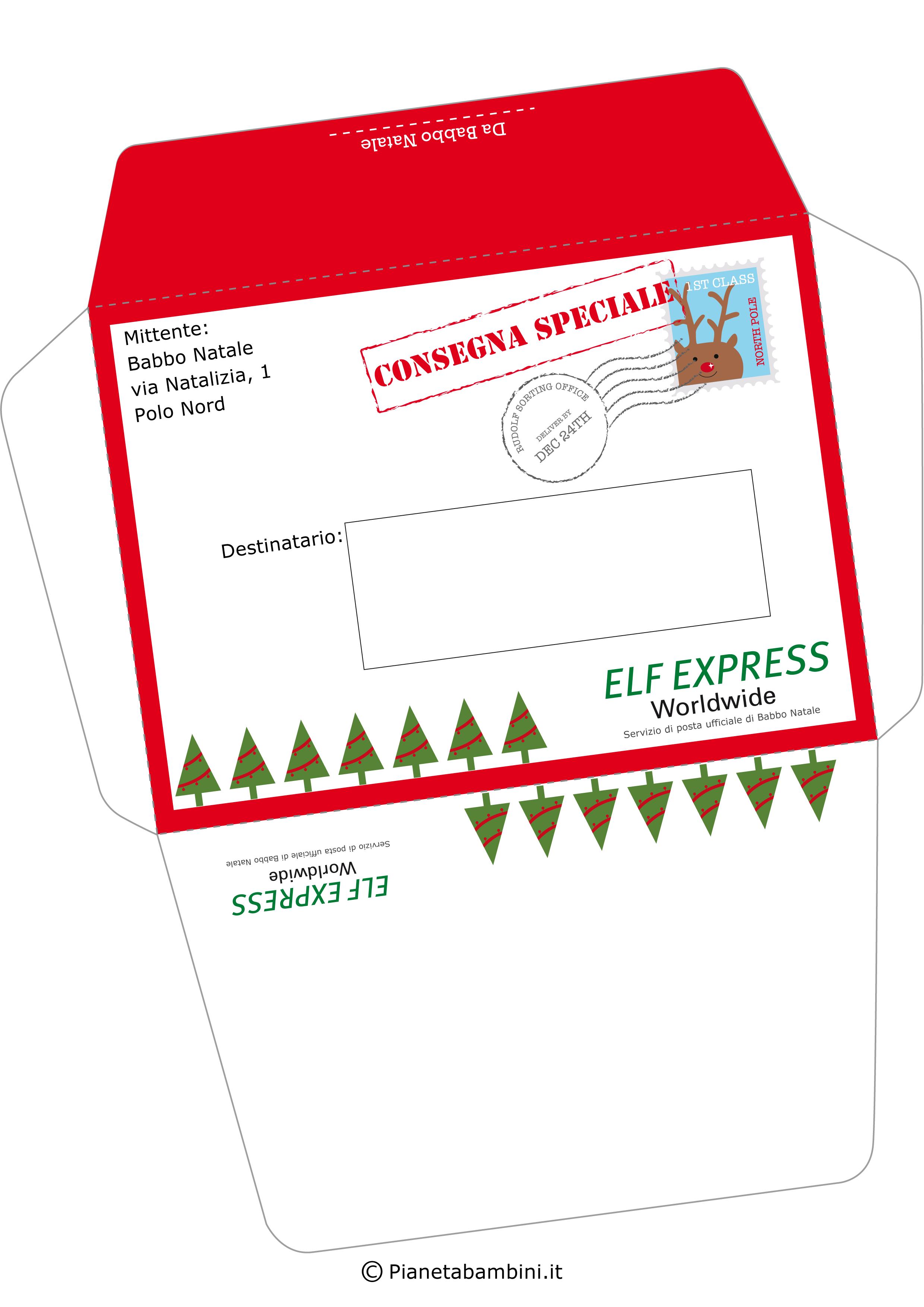 Etichette Natalizie Da Stampare busta e lettera originale da babbo natale ai bambini da