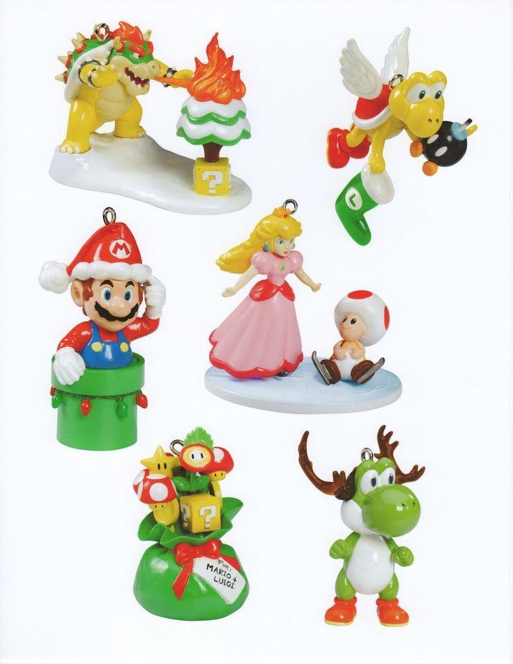 Mario Ornaments  Super Mario Christmas ornaments  Things I Want