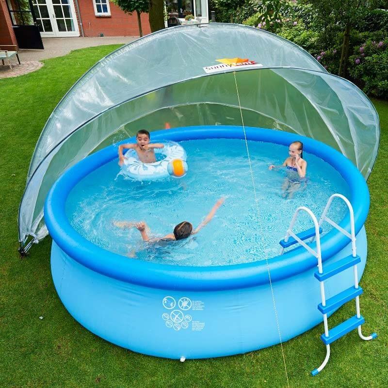 Beeindruckend Schwimmbäder Für Den Garten Schwimmbad01: SunnyTent Poolabdeckung Größe L Biete Deinen Kindern Mehr