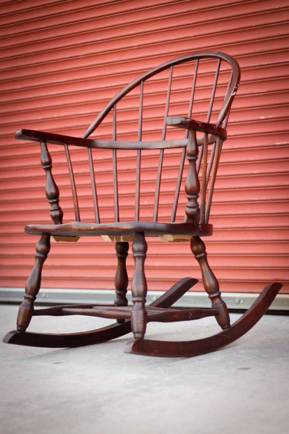 Stupendous Antique Colonial Low Back Windsor Rocking Chair Rocking Onthecornerstone Fun Painted Chair Ideas Images Onthecornerstoneorg