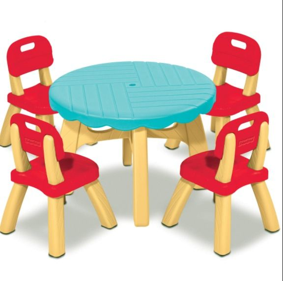 Fisher price summertime patio set with 4 chairs kids children picnic fisher price summertime patio set with 4 chairs kids children picnic table new fisherprice watchthetrailerfo