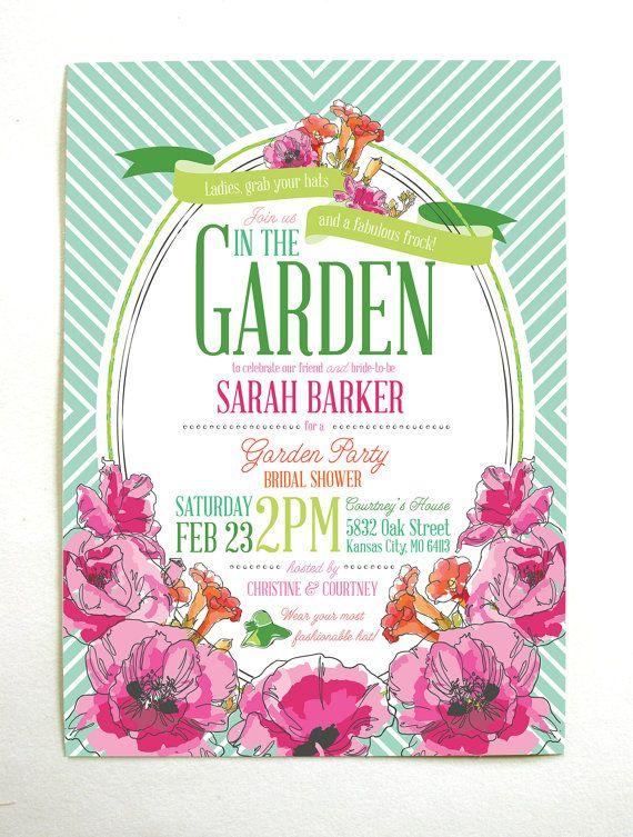 51fed223b718 Derby Garden Party Bridal Shower Invitations via Etsy