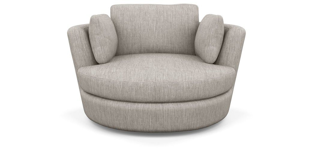 Snuggle Chair | Round swivel chair, Leather swivel chair ...