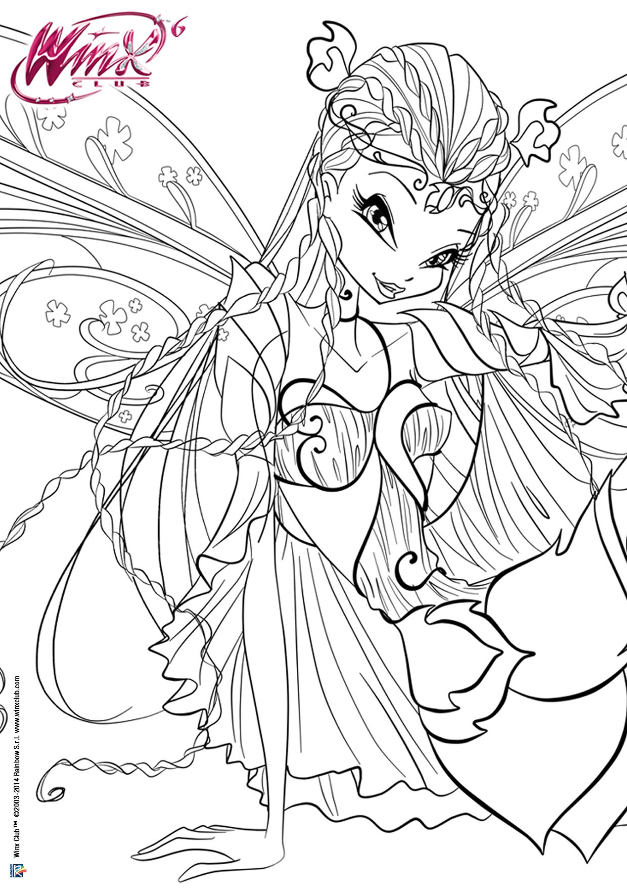 New Winx Club Bloomix Coloring Pages In Fairy Couture Style