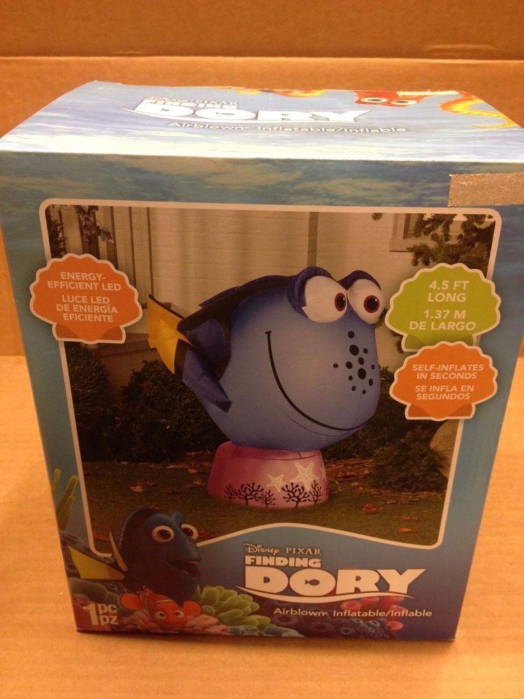 Disney Pixar Finding DORY Gemmy Christmas Airblown Inflatable Yard - disney christmas yard decorations