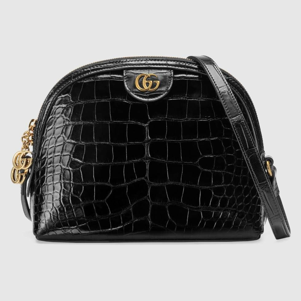 9533527d8a1 Shop the Ophidia crocodile small shoulder bag by Gucci. Crafted in  crocodile skins with a