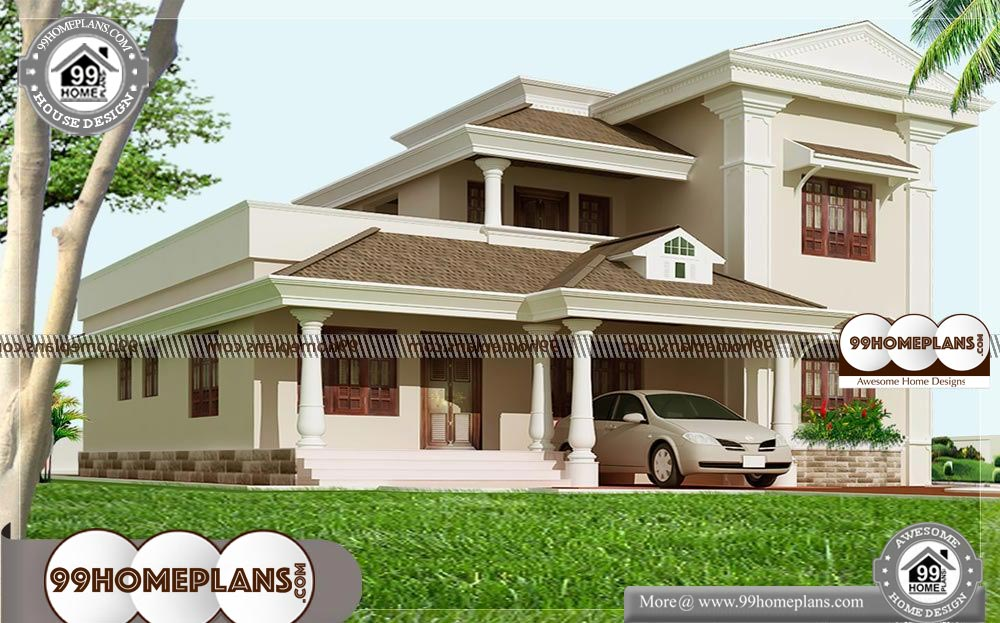 Modern House Shapes 55 Two Storey Residential House Plans Online Residential House Double Storey House Bungalow House Design