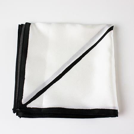 silk . scarf . white . line