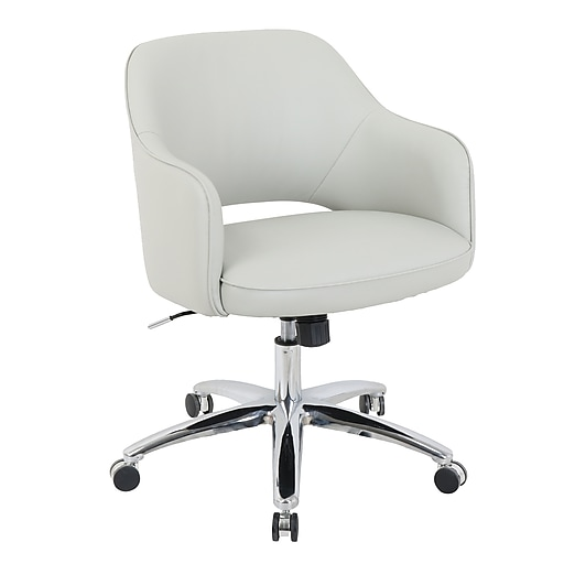 Staples.com: Global Renwick Faux Leather Office Chair, Fog