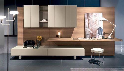 Borgonovo Mobili ~ Contemporary living room wall unit oak walnut glossy lacquered