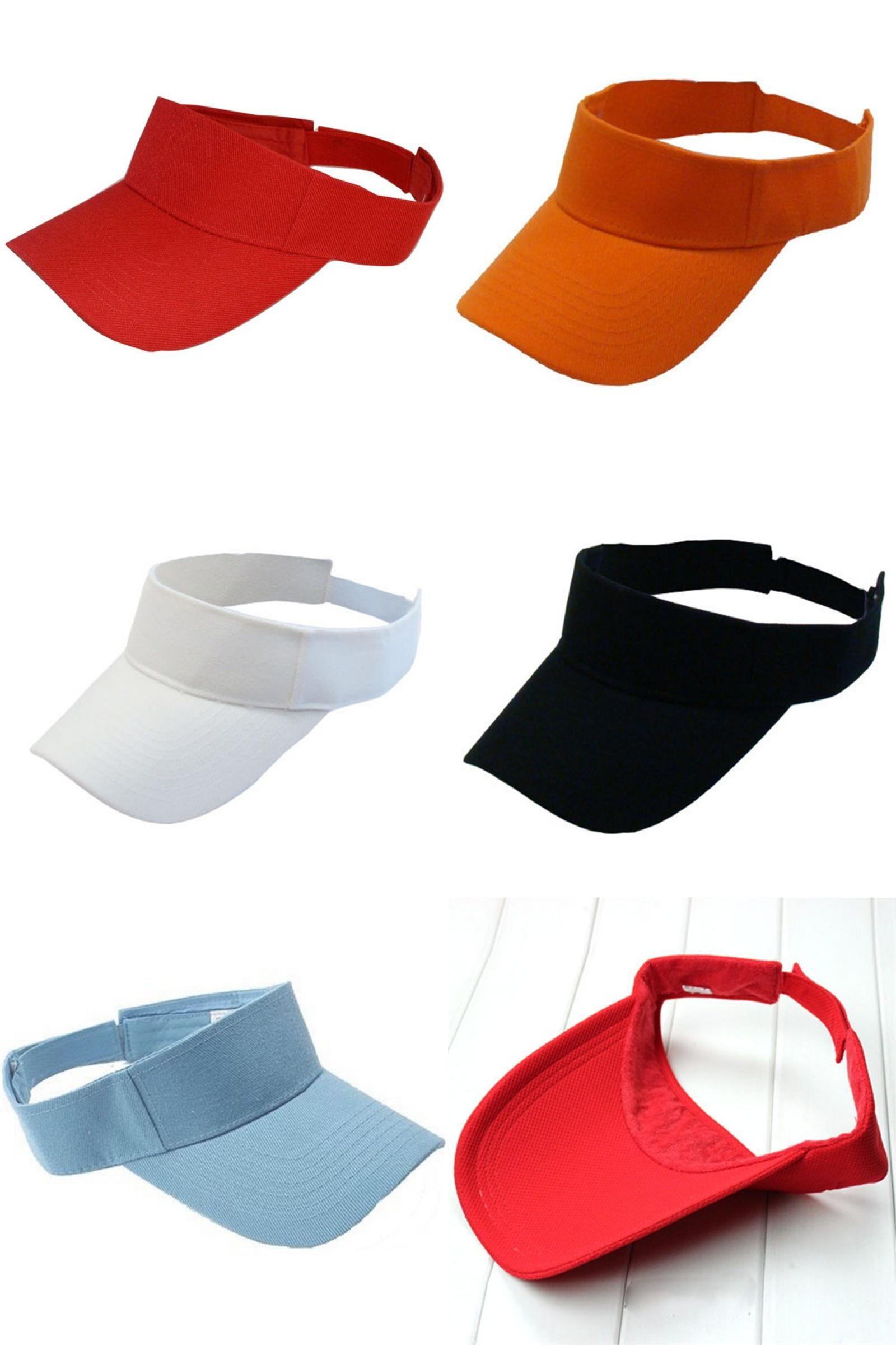 2e191a83652a  Visit to Buy  Sell Woman Man Golf Cotton Sun Visor Hats Tennis Baseball  Caps