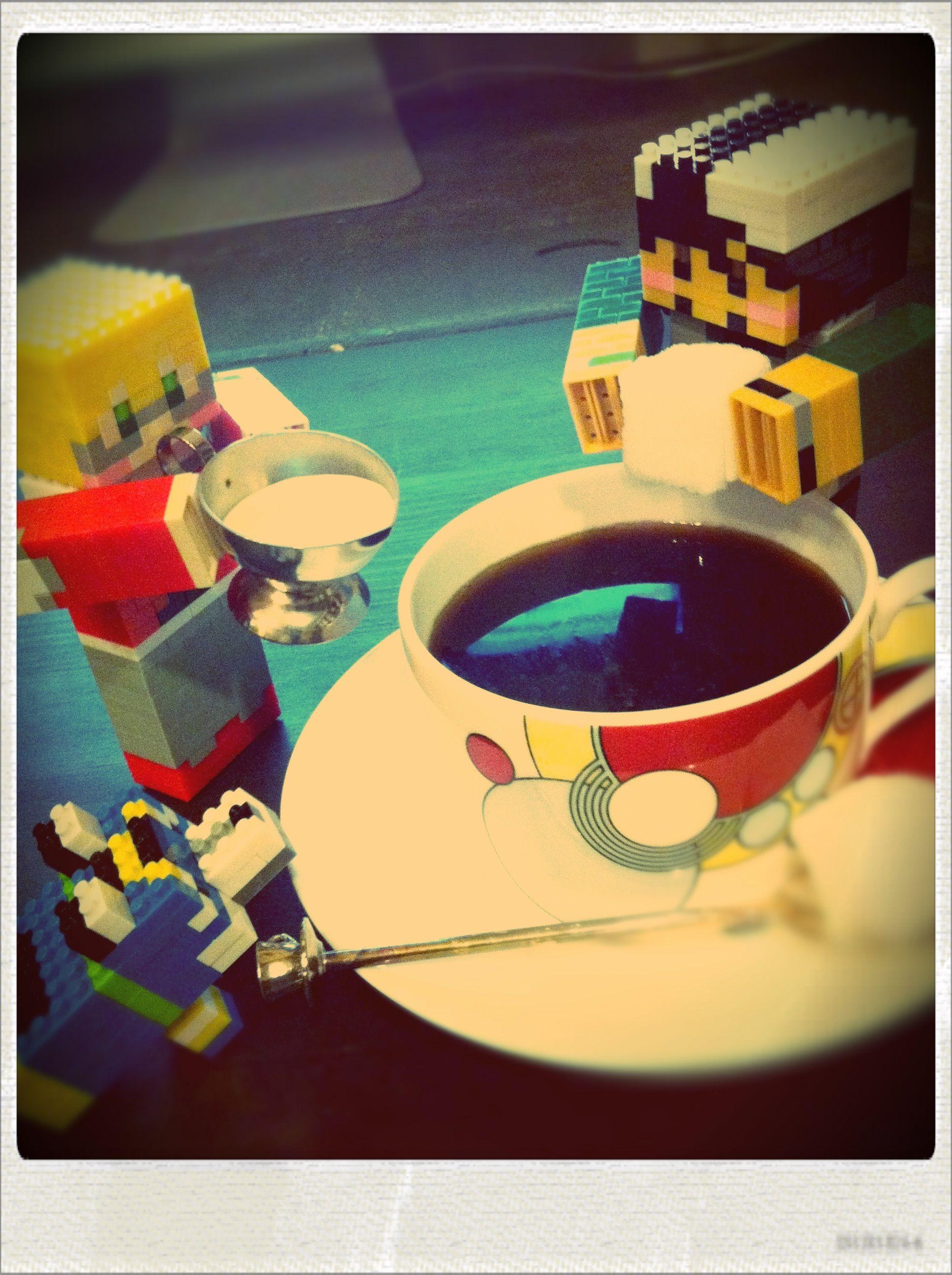 四角いバディがコーヒーを淹れてくれました。
