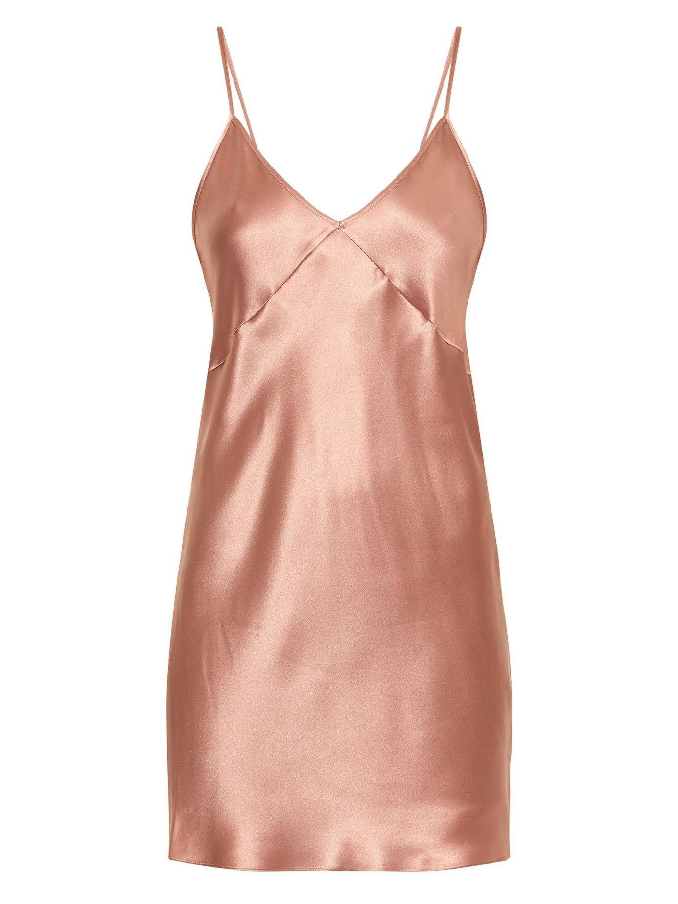 8c4b1aa3fc Silk-satin cami dress