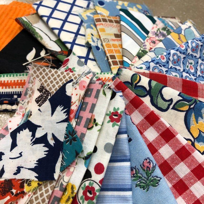 Authentic vintage fabric