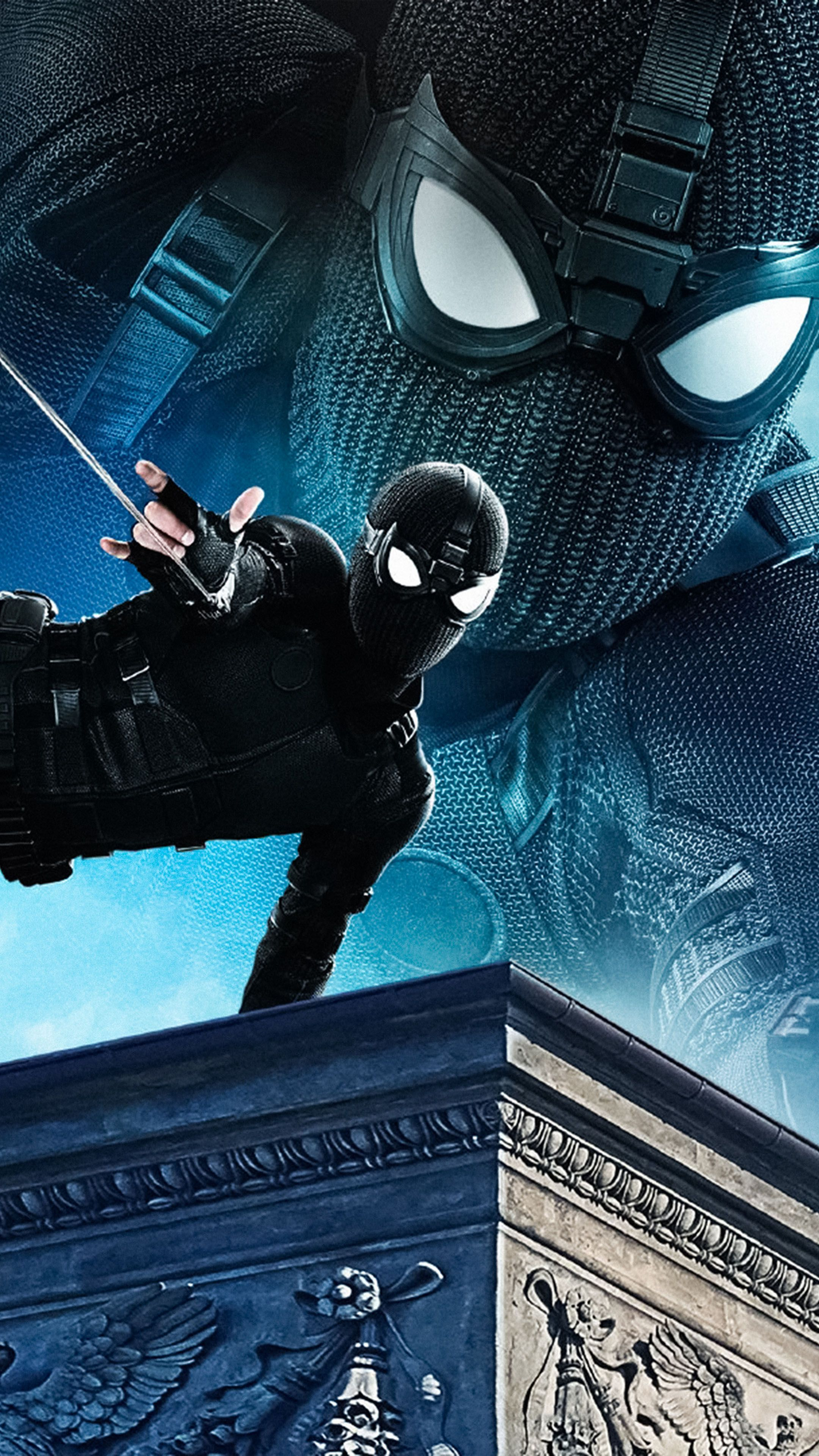 Black Suit Spider Man Far From Home 2019 Movie Wallpapers