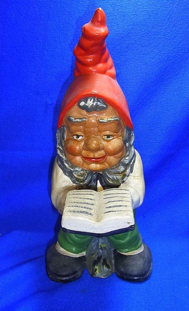 vintage german art pottery garden yard outdoor gnome. Black Bedroom Furniture Sets. Home Design Ideas