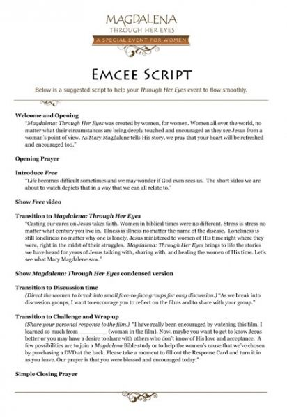 Emcee script for pageant | beauty | entertainment (general).