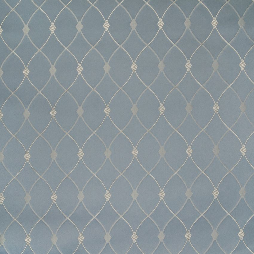 The G9324 Cornflower upholstery fabric by KOVI Fabrics features Lattice, Diamond, Geometric, Dot pattern and Blue as its colors. It is a Woven type of upholstery fabric and it is made of 100% Polyester material. It is rated Exceeds 30,000 double rubs (heavy duty) which makes this upholstery fabric ideal for residential, commercial and hospitality upholstery projects. This upholstery fabric is 57 inches wide and is sold by the yard in 0.25 yard increments or by the roll. Call 8008603105