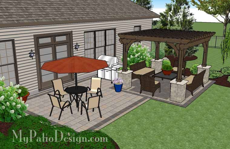 With The Simple And Affordable Brick Patio Design With Pergola Youu0027ll Enjoy  Colorful Outdoor