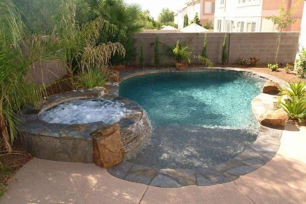 99 Comfy Backyard Designs Ideas With Swimming Pool Looks Cool Small Backyard Design Backyard Design Small Pool Design
