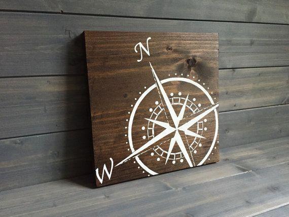 Photo of Compass Sign   Travel decor   Adventure sign   Adventure decor   Travel sign   Nautical decor   Lake decor   Hiking gift   Compass art
