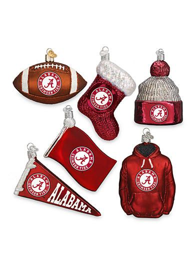 Old World Christmas® 6-Piece University of Alabama Ornament Set - Old World Christmas® 6-Piece University Of Alabama Ornament Set