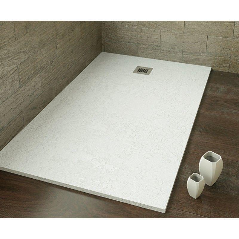 Ekostone plato de ducha resina blanco apartamento for Instalar plato ducha resina