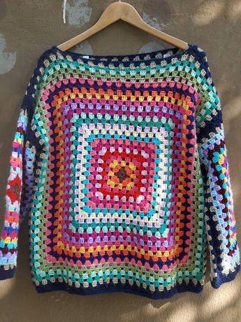 Crochet Boho Sweater Fashion Outwear Oversized Sweater Knit Sweater Women Fashion Accessories Gift Ideas