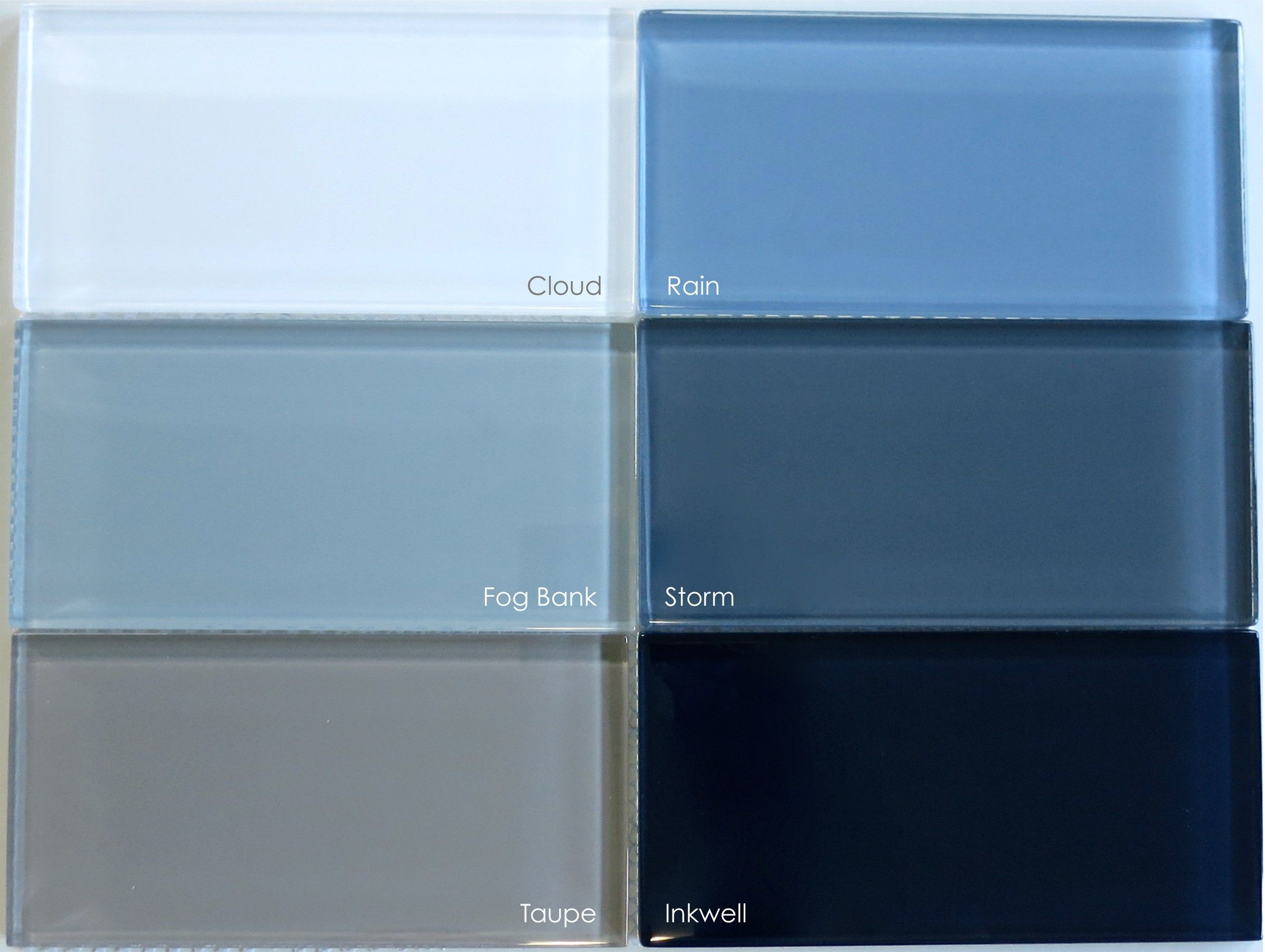 Lush Ready® Glass Subway Tile - Fog Bank 4x12 | Gray subway tiles ...