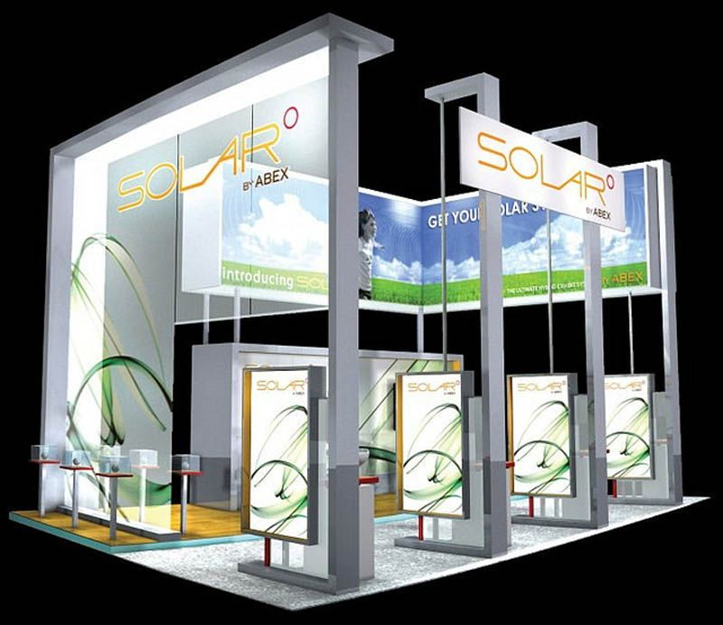 Exhibition Booth Displays : Custom solar  trade show display by abex