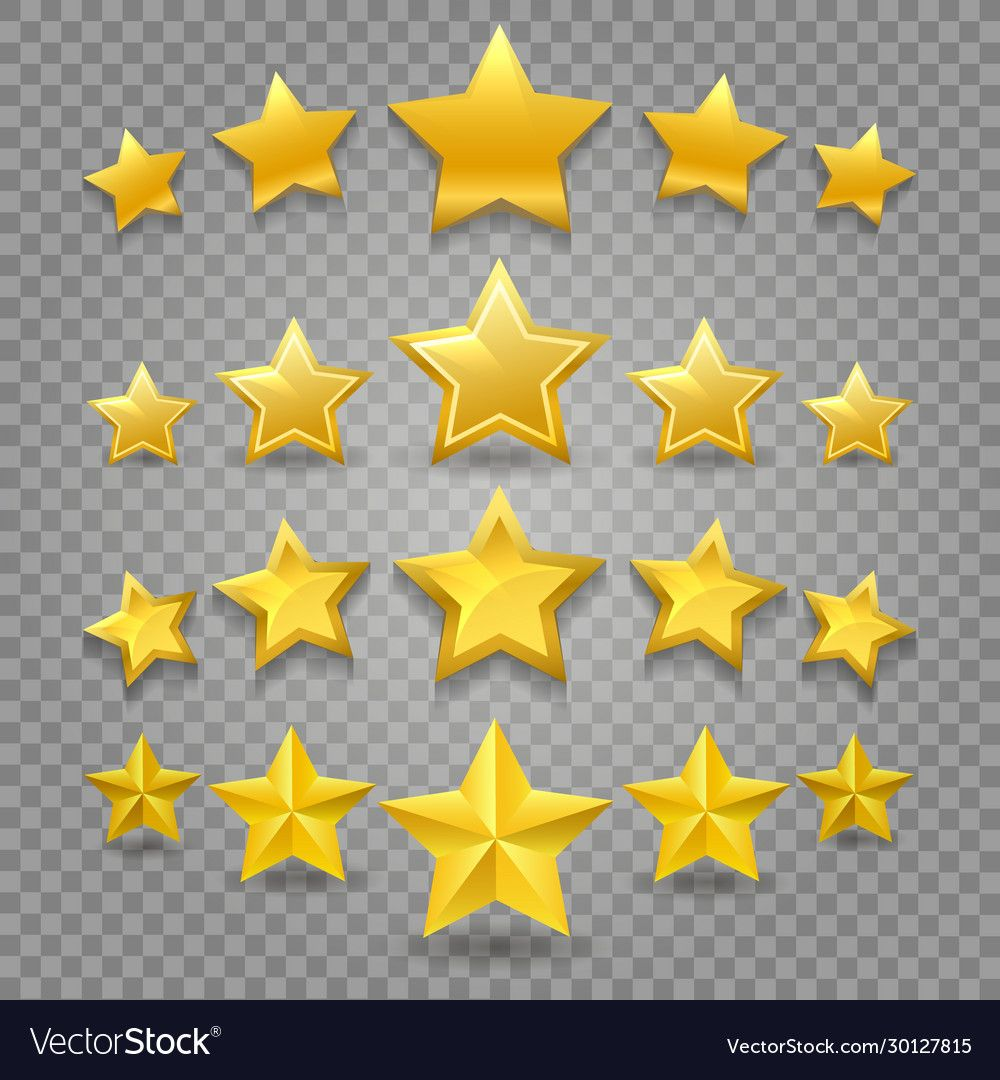 Five Star Review Vector Image Abstract 5 Stars Symbols Ranking Yellow Rating And Quality Clipart Object Patterns Isola Star Clipart Vector Images Vector Free