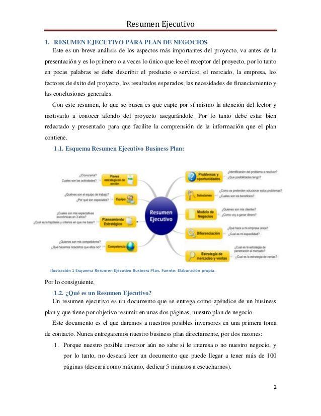 Quieres aprender a redactar un modelo de resumen ejecutivo para tu ...