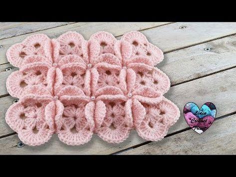 Point 3d Fleurs Crochet Facile Pas A Pas Youtube Foto