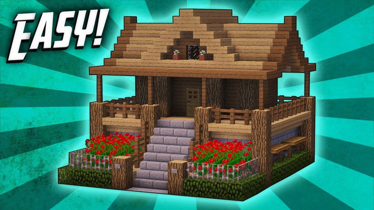 Minecraft How To Build A Survival Starter House Tutorial