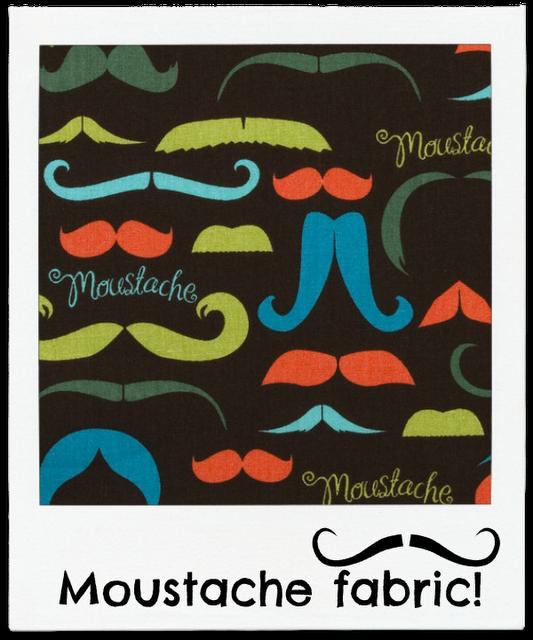 Moustache fabric love! @JoAnn_Stores