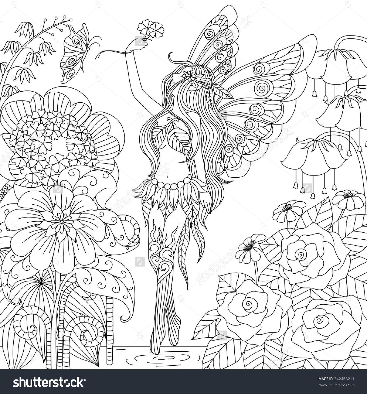 Resultado de imagem para fairies coloring book