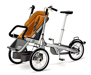 Taga Bike Mit Grunem Kindersitz Amazon De Baby Kinderwagen