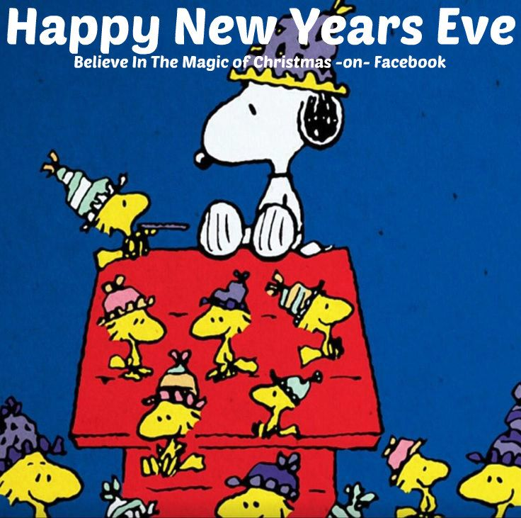 Snoopy & Woodstock Happy New Years Eve Snoopy and