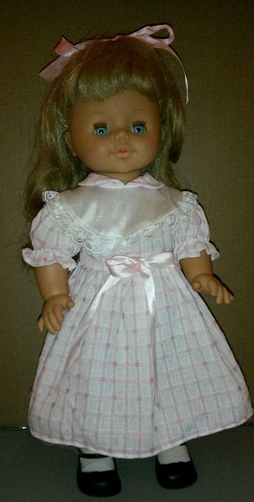 "Jesmar 19""Vinyl  Doll w/Clothes, Large, Mechanics, Vintage Blonde Blue Eyes #Jesmar #DollswithClothingAccessories"